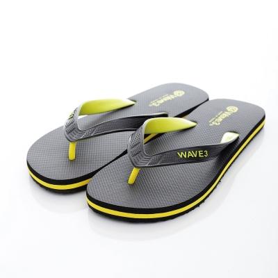 WAVE3【男】獨家設計ESP-四代人字夾腳拖鞋~黑黃