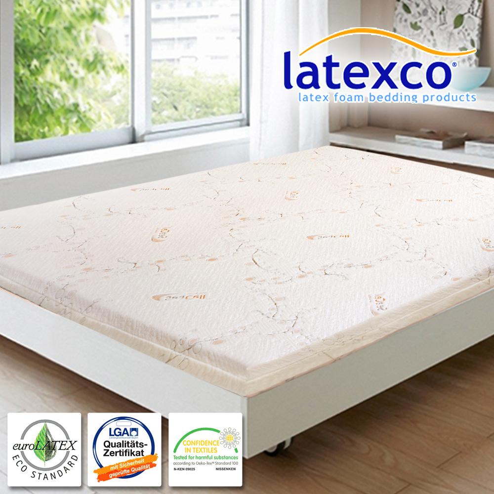 LooCa SeaCell海藻纖維5cm latexco乳膠床墊(雙人加大6尺)