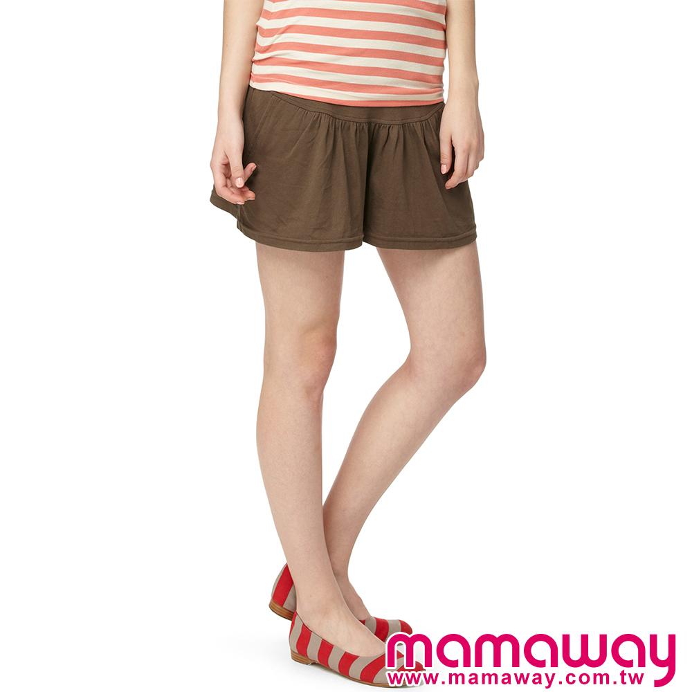 【Mamaway】孕期迷你褲裙(共二色)