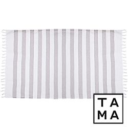 TAMA 天然純淨頂級土耳其手工平織薄巾(庚斯博羅灰)