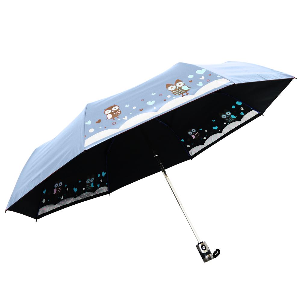 雨季 感溫美白自動開收三折傘(3入)