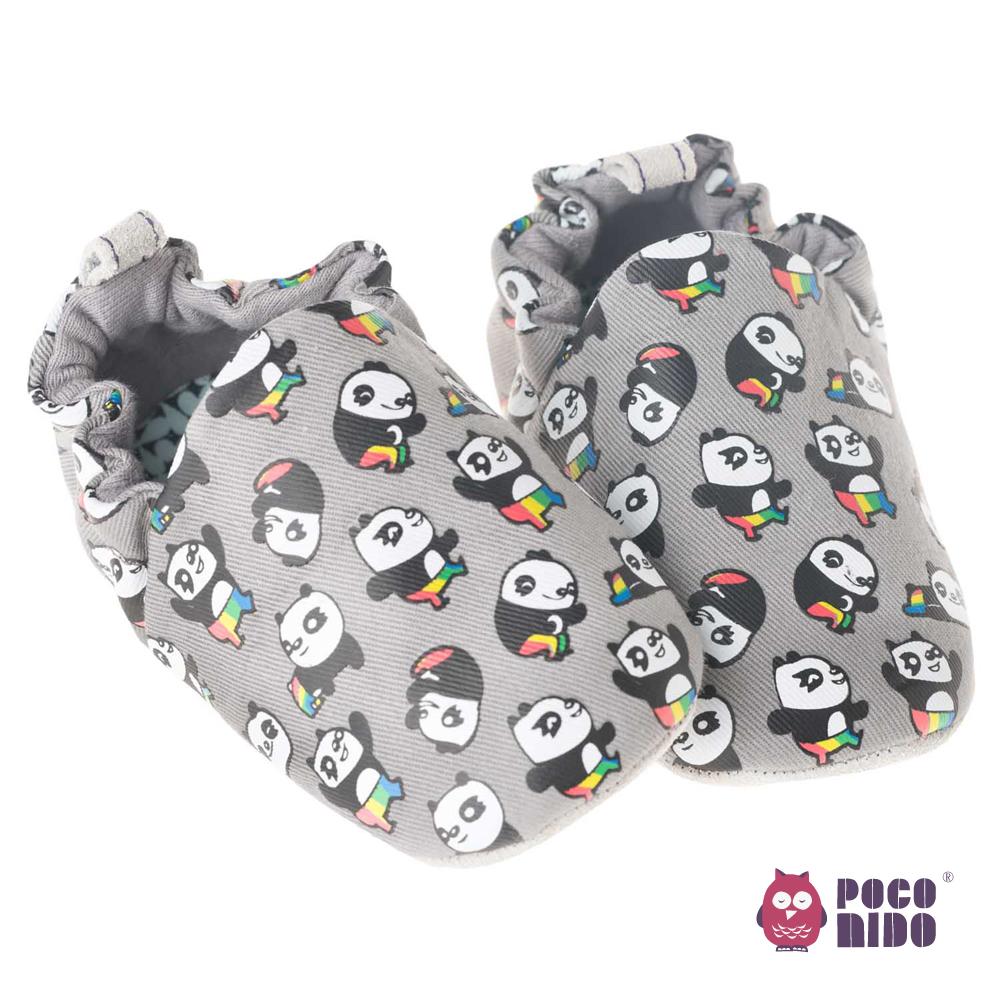 【彌月禮】英國POCONIDO 手工嬰兒鞋-功夫熊貓