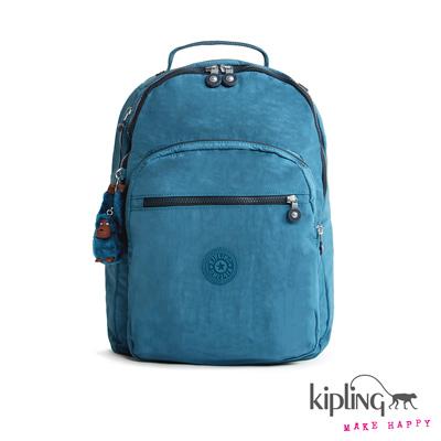 Kipling-後背包-水手淺藍素面