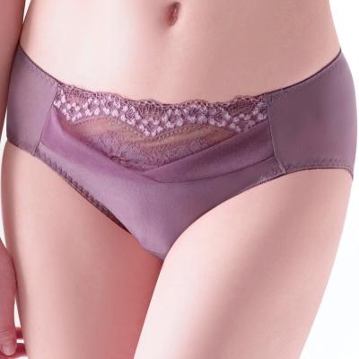 【思薇爾】綺麗系列中腰三角褲(藕紫色)