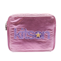 kitson 金屬光 NB / i-Pad 收納包-PINK