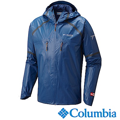 Columbia 哥倫比亞 男-鈦OD連帽防水外套-深藍-URE00190NY