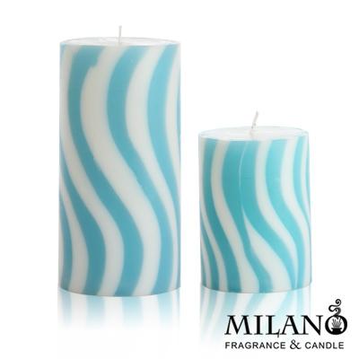 Milano  螺旋曲線香氛手工蠟燭組(海洋風)