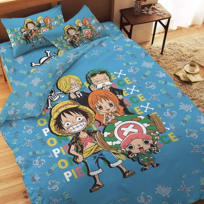 航海王 友誼之光系列-單人純棉三件式床包薄被套組