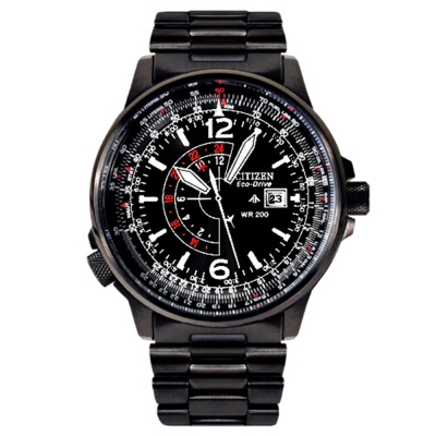 CITIZEN PROMASTER 航空飛行腕錶(BJ7019-62E)-IP黑/40mm