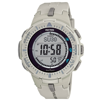 PROTREK原野時尚風格戶外活動高亮度照明登山錶(PRG-300-8)灰色/47mm