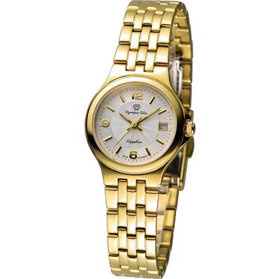 Olympia Star 經典超薄時尚腕錶-金色/25mm