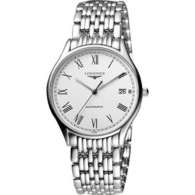 LONGINES Lyre 琴韻 羅馬經典機械腕錶-白/35mm