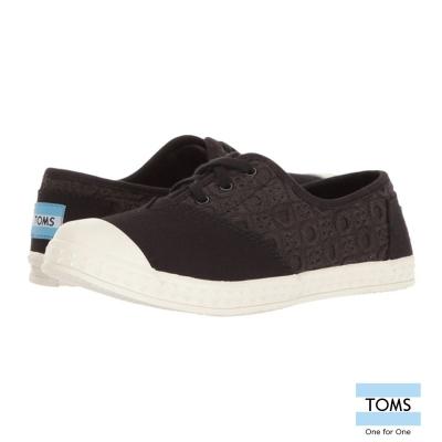 TOMS 立體雕花休閒鞋-孩童款