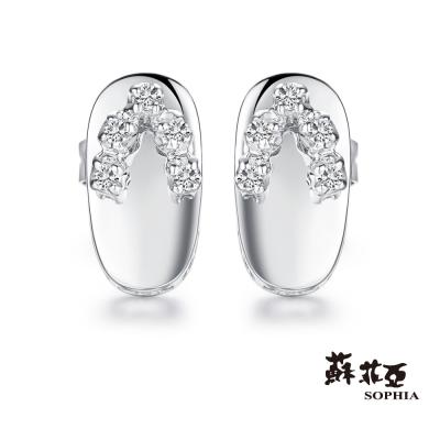 蘇菲亞SOPHIA 鑽石耳環 - 日式可愛木屐鑽石耳環(共兩色)