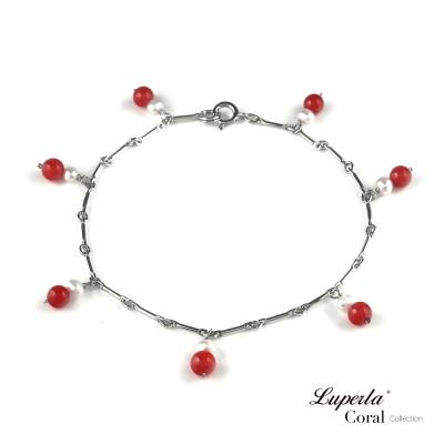 【大東山珠寶】全紅珊瑚手鍊 富貴圓滿