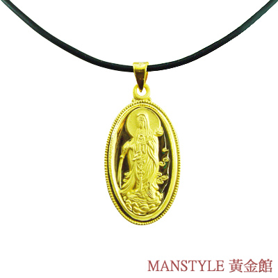 Manstyle 滴水觀音黃金墜 (約2錢)