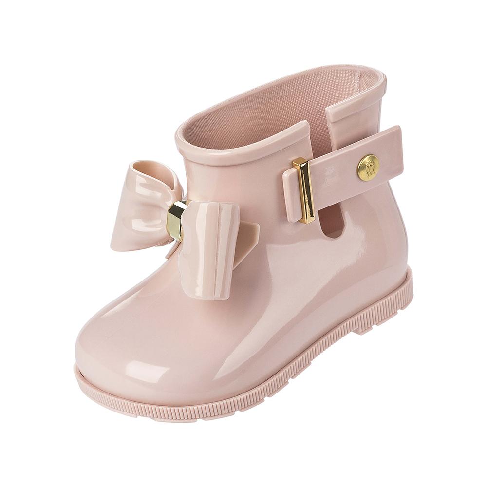 MINI MELISSA甜心蝴蝶結小童雨靴-粉紅