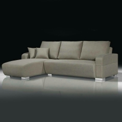 Bernice-曼蒂厚亞麻布L型沙發-左右型可選