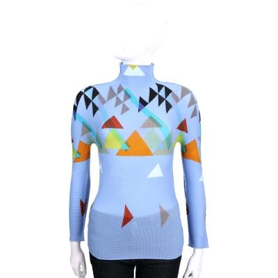 三宅一生 ISSEY MIYAKE Cauliflower 三角圖型貼身長袖上衣