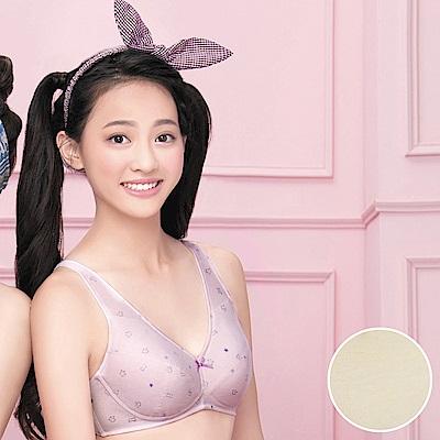 嬪婷 學生內衣 第三階段 晶球牛奶 A-C罩杯學生無鋼圈內衣(柔和黃)-
