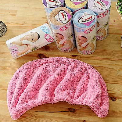 米夢家居-台灣製造水乾乾SUMEASY開纖吸水紗-快乾護髮浴帽(粉)2件