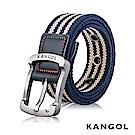 KANGOL EVOLUTION系列 英式潮流休閒針釦式皮帶- 藍條紋 KG1181