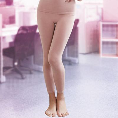 華歌爾-MODAL一枚兩役M-L保暖隨型長褲(花紗粉)