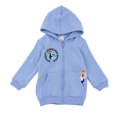 愛的世界-MYBEAR-小企鵝彈性刷毛連帽外套-1-4歲