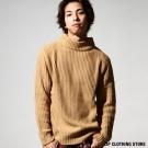 素面中高領針織衫 ZIP日本男裝
