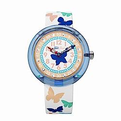 FlikFlak 兒童錶 PAPILLETTA 斑斕蝴蝶手錶