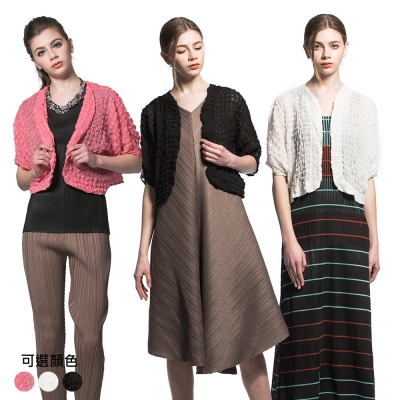 甜美百搭壓摺罩衫小外套(共三色)-玩美衣櫃