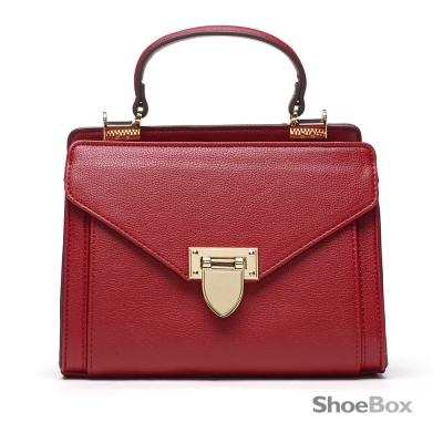 鞋櫃ShoeBox-女包-斜背包-信封造型手提小方包-紅