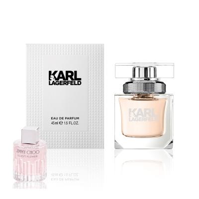 KARL LAGERFELD 卡爾同名時尚女性淡香精45ml(贈隨機小香乙瓶)