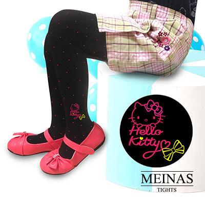美娜斯 Hello Kitty粉紅點點兒絲襪/褲襪M-L(#10752)