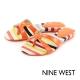 NINE WEST--帆布條紋夾腳拖鞋-亮麗