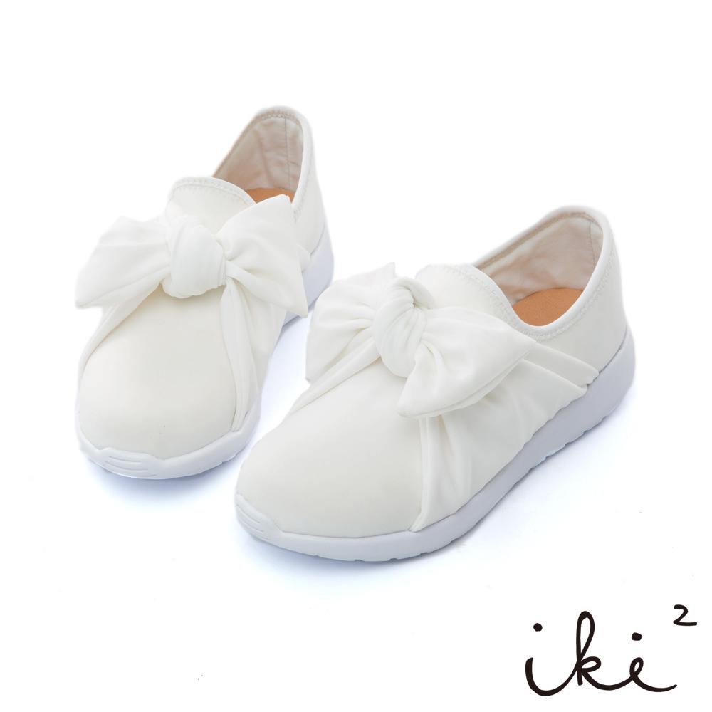iki2 親子百搭透氣輕量休閒鞋-白