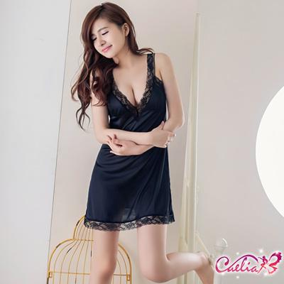 Caelia-熱情摯愛-深V柔緞睡衣