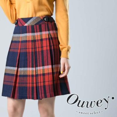 OUWEY歐薇-經典蘇格蘭毛料裙