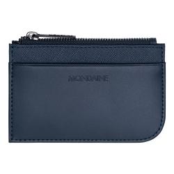 MONDAINE 瑞士國鐵雙卡拉鍊零錢包-藍