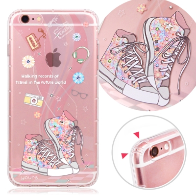 YOURS APPLE iPhone6s Plus 奧地利水晶彩繪防摔氣墊手機鑽...
