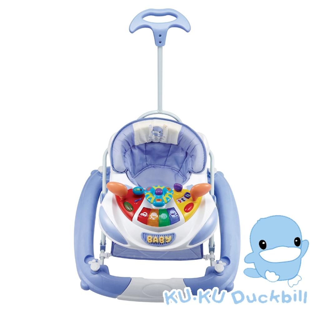 KU.KU酷咕鴨-多功能音樂學步車6025(藍色)