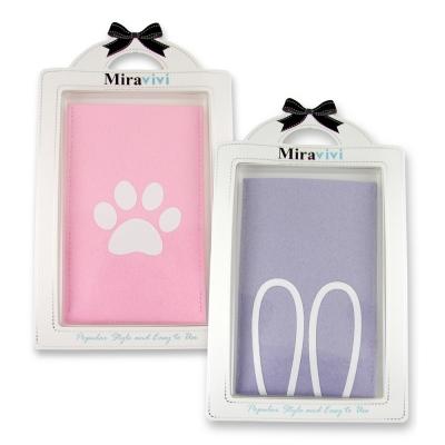 可愛動物超細纖維布手機袋