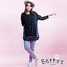 betty's貝蒂思 星星棉質彈性長褲(深灰)