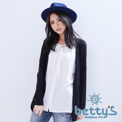 betty's貝蒂思 外搭罩衫感假兩件式上衣(共三色)