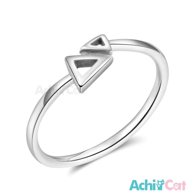 AchiCat 925純銀戒指尾戒 幾何三角