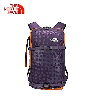 The North Face北面紫紅色戶外滑雪技術背包
