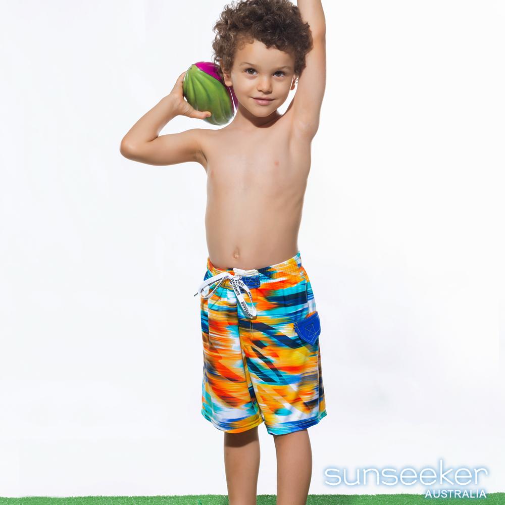 澳洲Sunseeker泳裝防曬男童兩穿泳褲海灘褲-亮彩