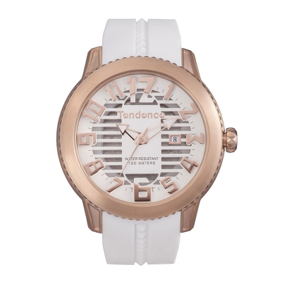 Tendence 天勢錶 圓形系列-白玫瑰金/45mm