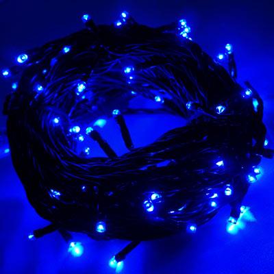 LED燈串-100燈樹燈串 (藍光)(附控制器)(高亮度又省電)