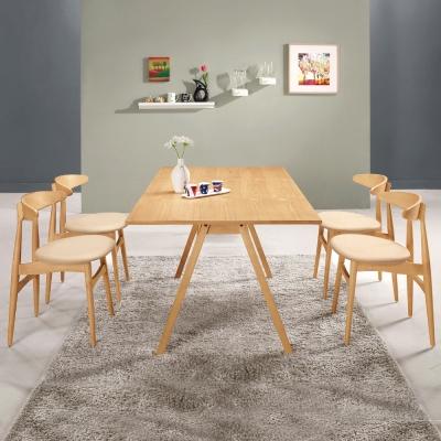 Boden-歐文簡約現代餐桌椅組(一桌四椅)170x85x74cm